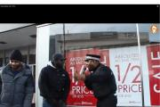 Fake police rapper battling on Lewisham High Street