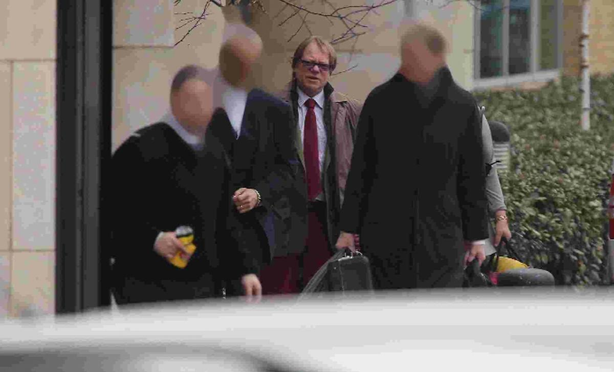 ACCUSED: David Martin Burridge arrives at Bournemouth Crown Court