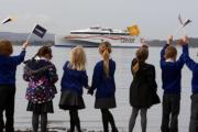 Bon Voyage! Hundreds gather to cheer Condor Liberation on its way