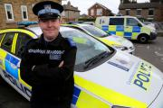 PCSO Adam Cleaver  who has been given a Royal Humane Society award for saving the life of a child who was choking.