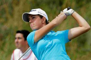 Golf: Hall records middle-of-the-pack finish in first tour event as pro