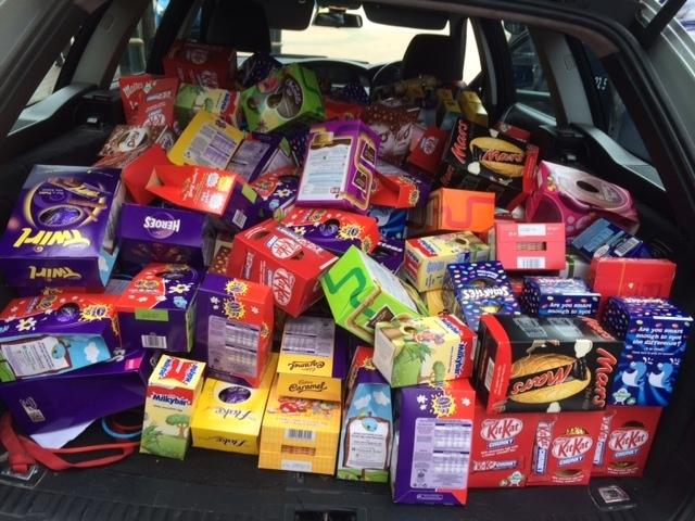 Hundreds of easter eggs donated for underprivileged families easter eggs collected for the hope for food easter hampers negle Choice Image