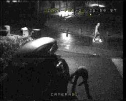 CCTV IMAGE: The vandal is caught on camera