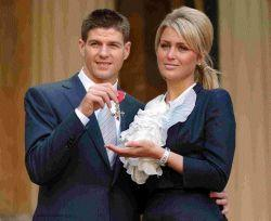 COME ON YOU REDS Alex Curran And Soccer Star Steven Gerrard Seen Here Collecting