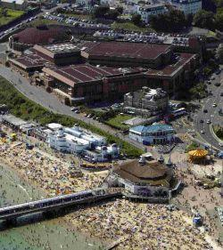 HOTSPOT: Bournemouth pier and crowded beach