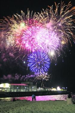Bournemouth Echo: EXPLOSIVE SITUATION: The Friday night fireworks at the pier