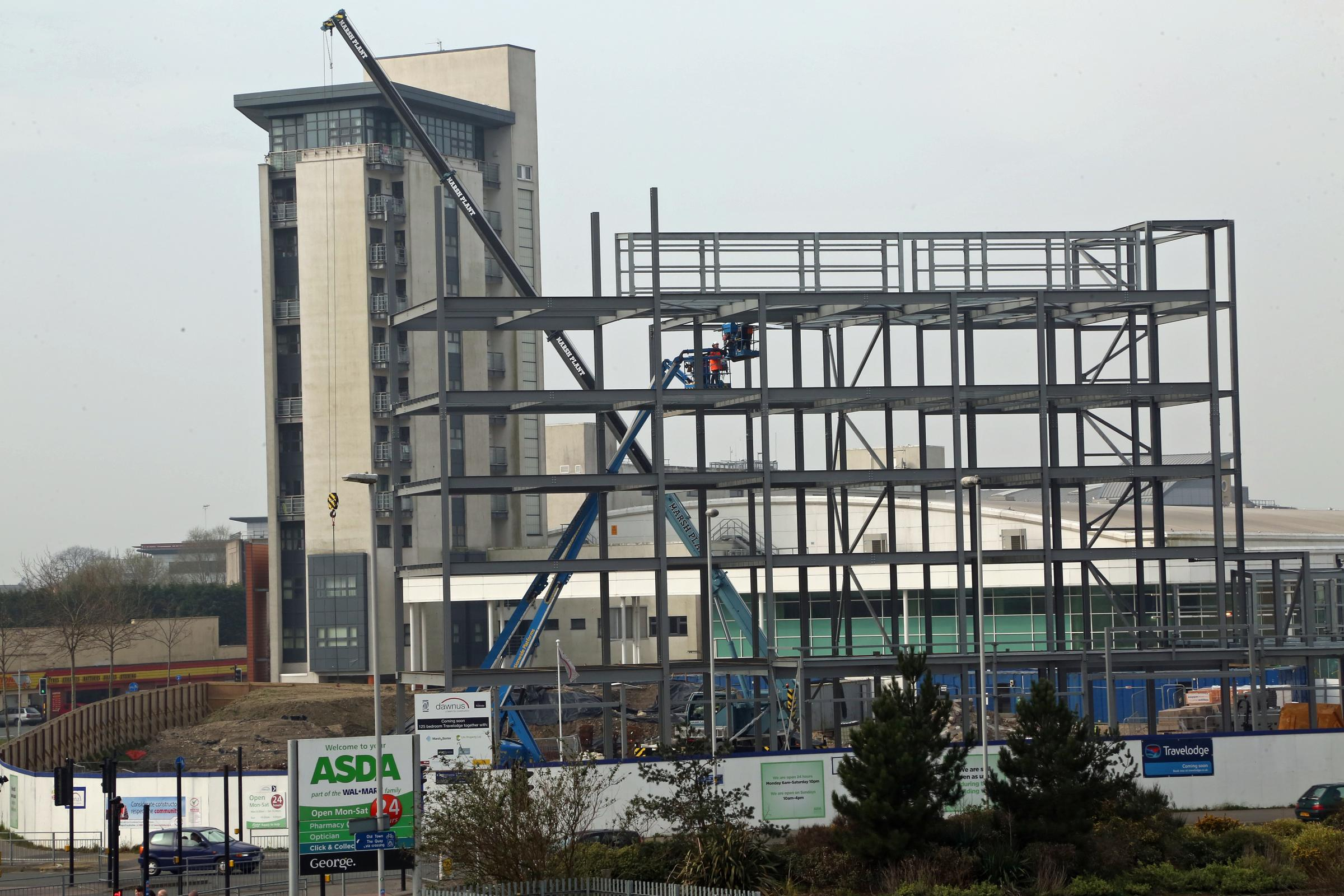 New Look Travelodge In Poole Starting To Take Shape From - Travelodge location map uk
