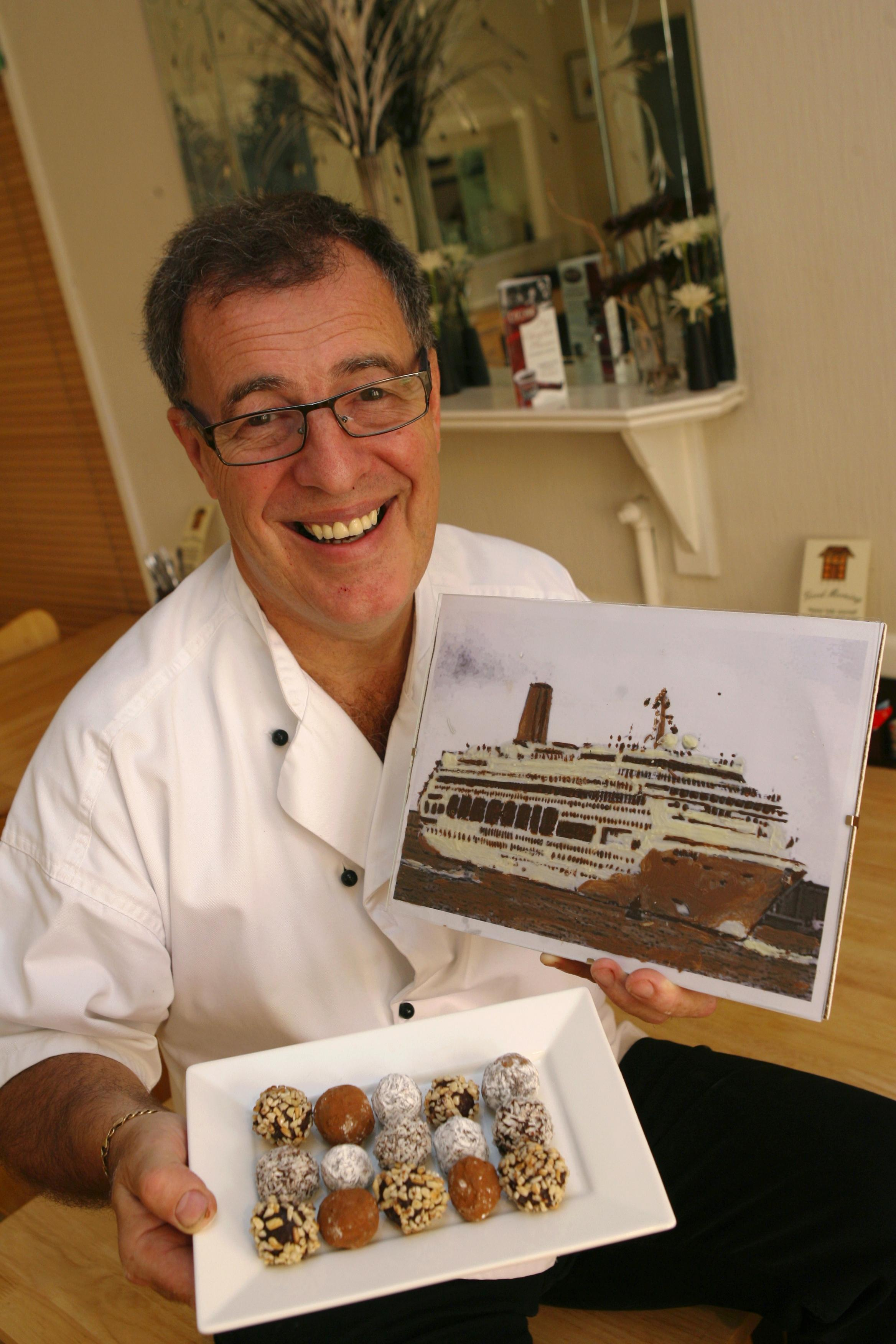 Gerry Wilton will teach P&O Cruise passengers how to make Belgian truffles on board  The Oriana