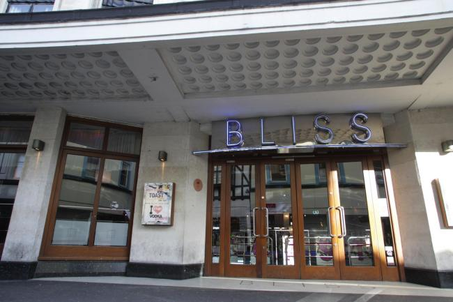 Bliss nightclub in Bournemouth town centre.