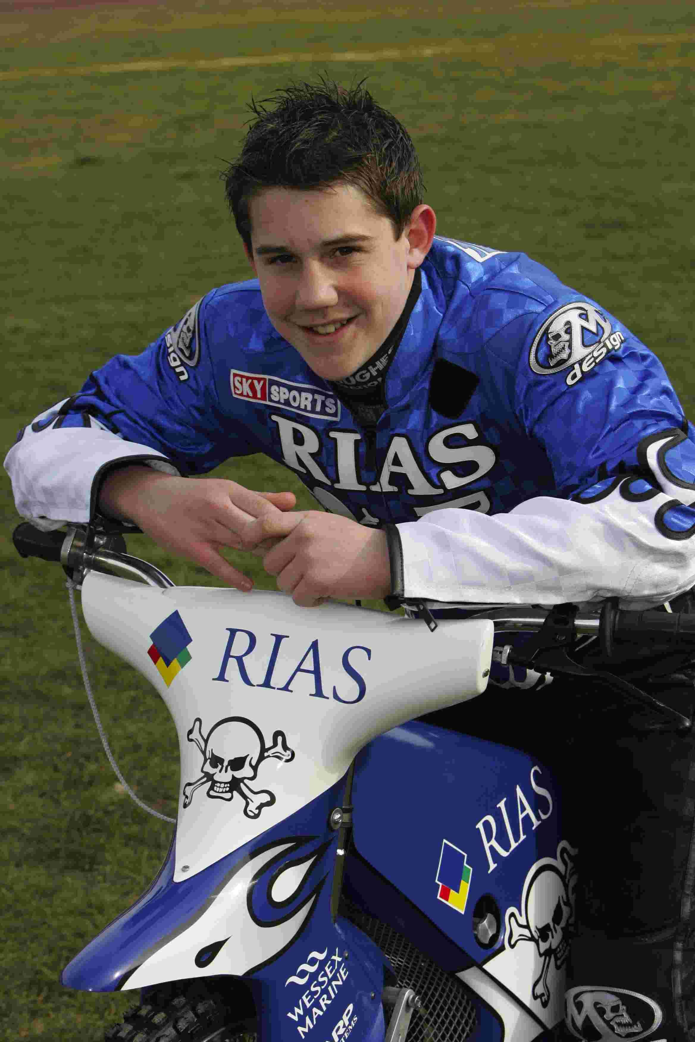 YOUNG BUCK: Brendan Johnson in his junior racing days