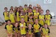 TOP TEAM: Poole swimmers with their medals and team trophy following the Dorset Graded Meet