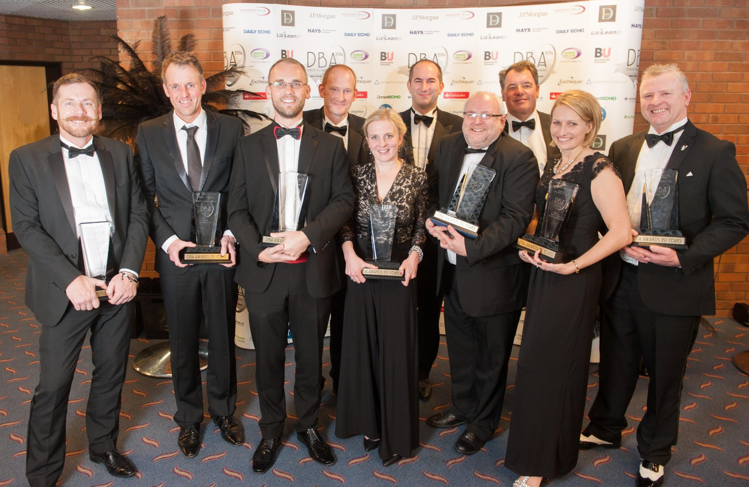 Last year's winners at the Dorset Business Awards