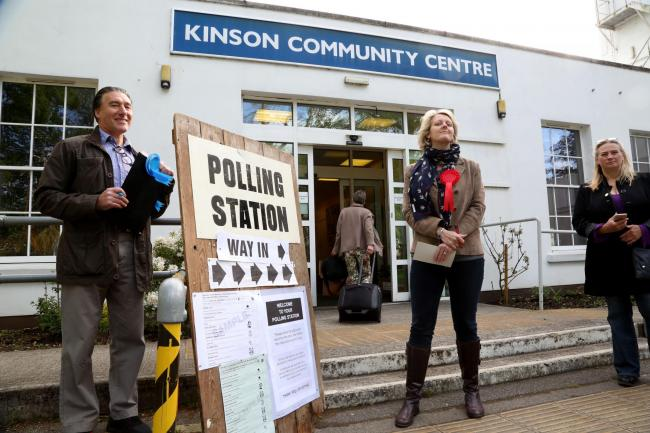 The polling station at Kinson Community Centre where voters were given the wrong ballet papers.