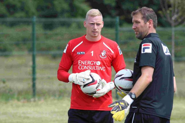 KEEPER: Cherries' Ryan Allsop with Neil Moss