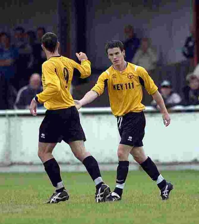 SCORER AND PROVIDER: Bashley striker Richard Gillespie (right)