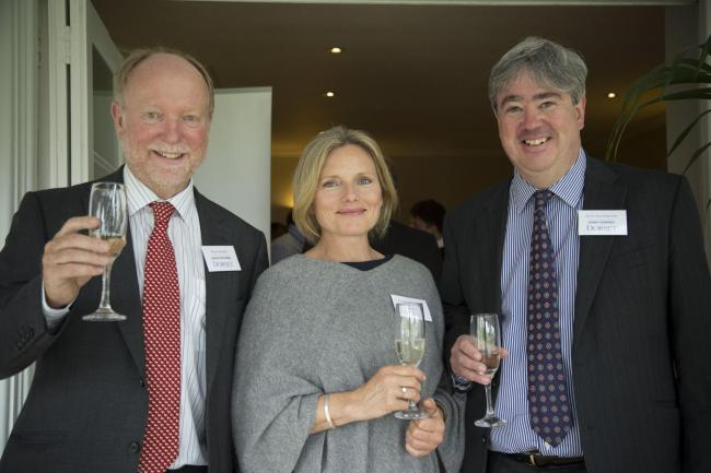 Pic from kate@ktpr.co.uk   Robin Barker of the Dorset Tourism Awards, Kathryn Haskins of the Alexandra Hotel in Lyme Regis and Nick Fernyhough of Saffery Champness at a lunch for sponsors (26955394)