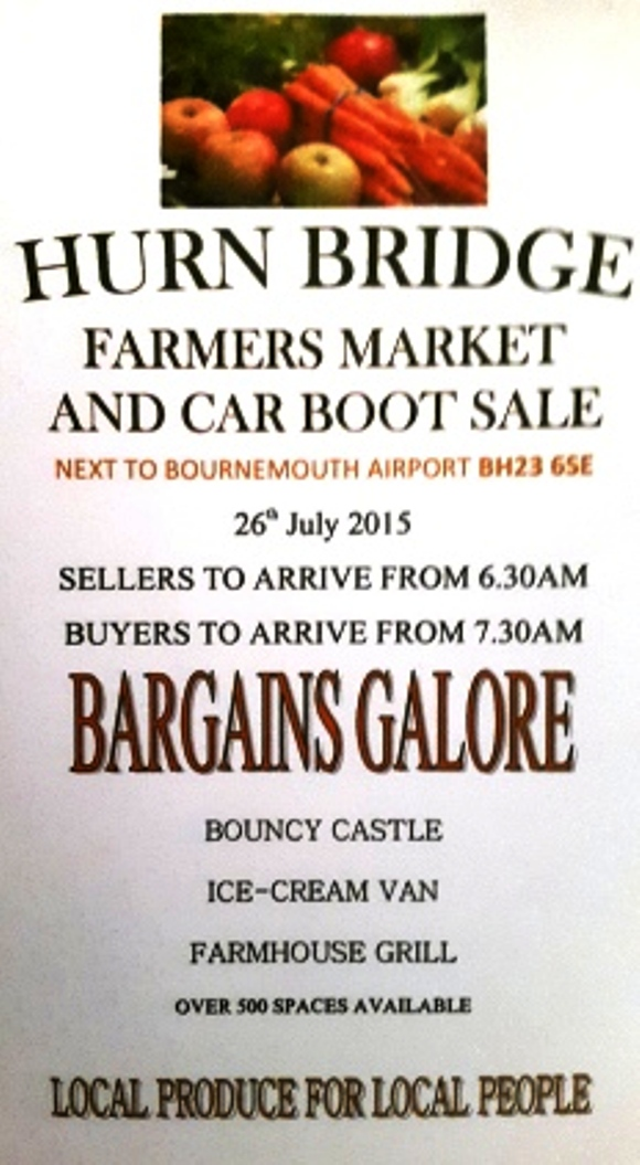 hurn bridge farmers market and car boot sale on 26 July at ...