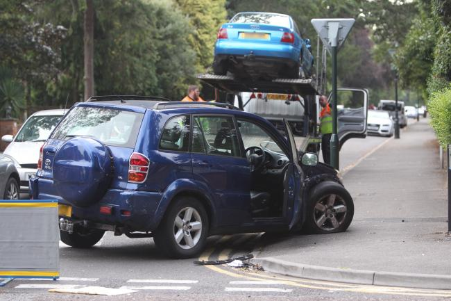 Emergency services attend two car crash in Poole Road