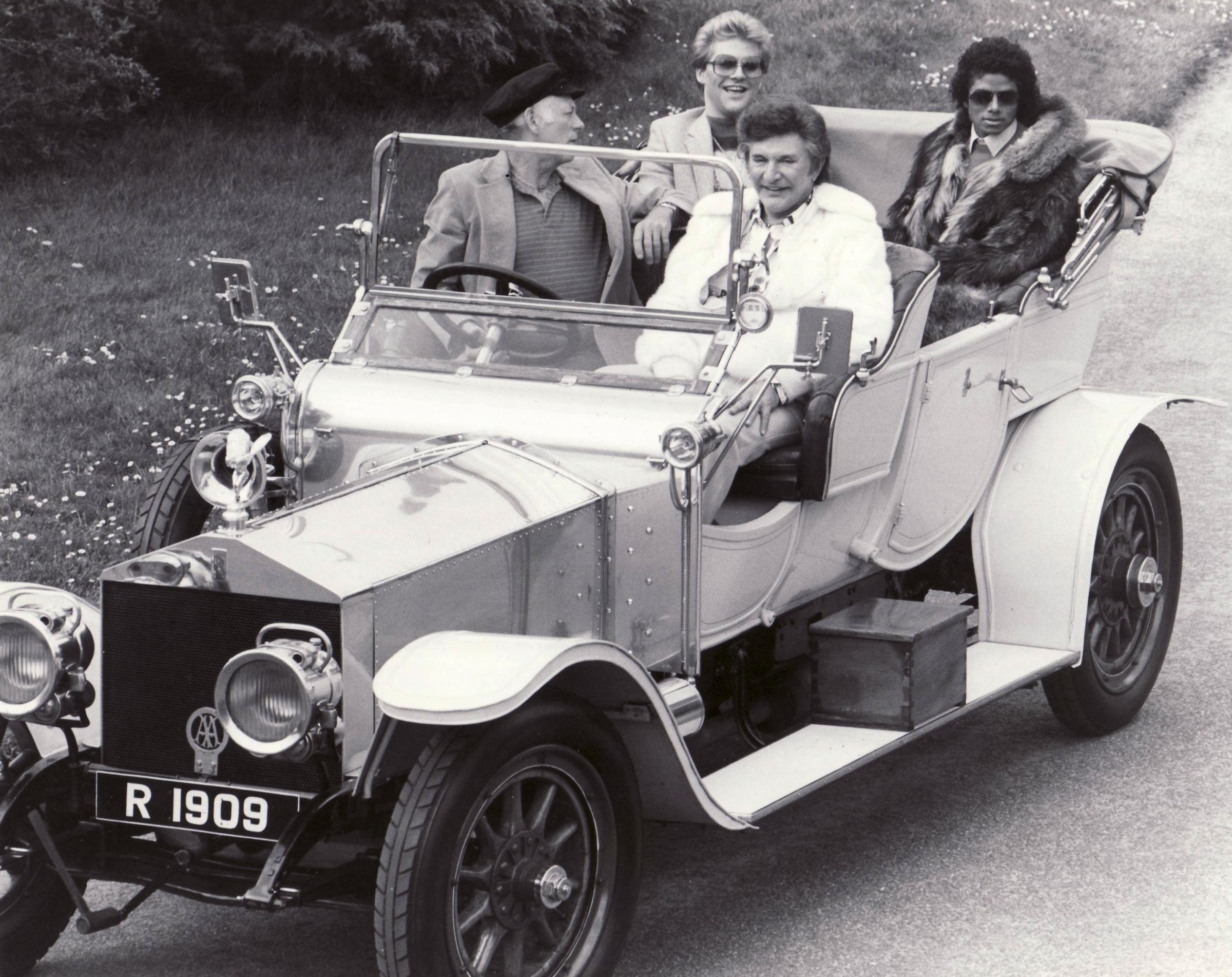 Lord Montagu at Beaulieu with Liberace and Michael Jackson in 1981