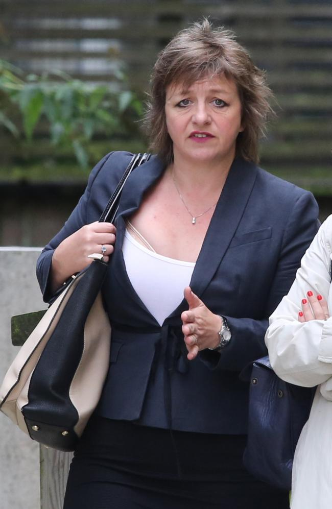 TESTIMONY: Liz Wilkinson arrives for the tribunal