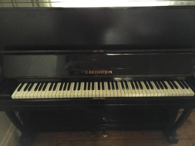 Bechstein piano belonging to Kelly Carolan who is researching its history. The piano was originally bought from Parkers Piano Specialists in Holdenhurst Road, Bournemouth shortly before the start of WWII.Copyright Kelly Carolan (42405394)