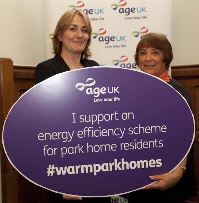 MP Natascha Engel And Sonia McColl Founder Of The Park Home Owners JUSTICE Campaign