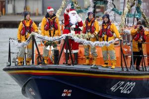 Santa arrives on Poole Quay - but will he be back next year?