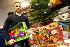 AFC Bournemouth Marc Pugh donated gifts to the Echo's toy appeal