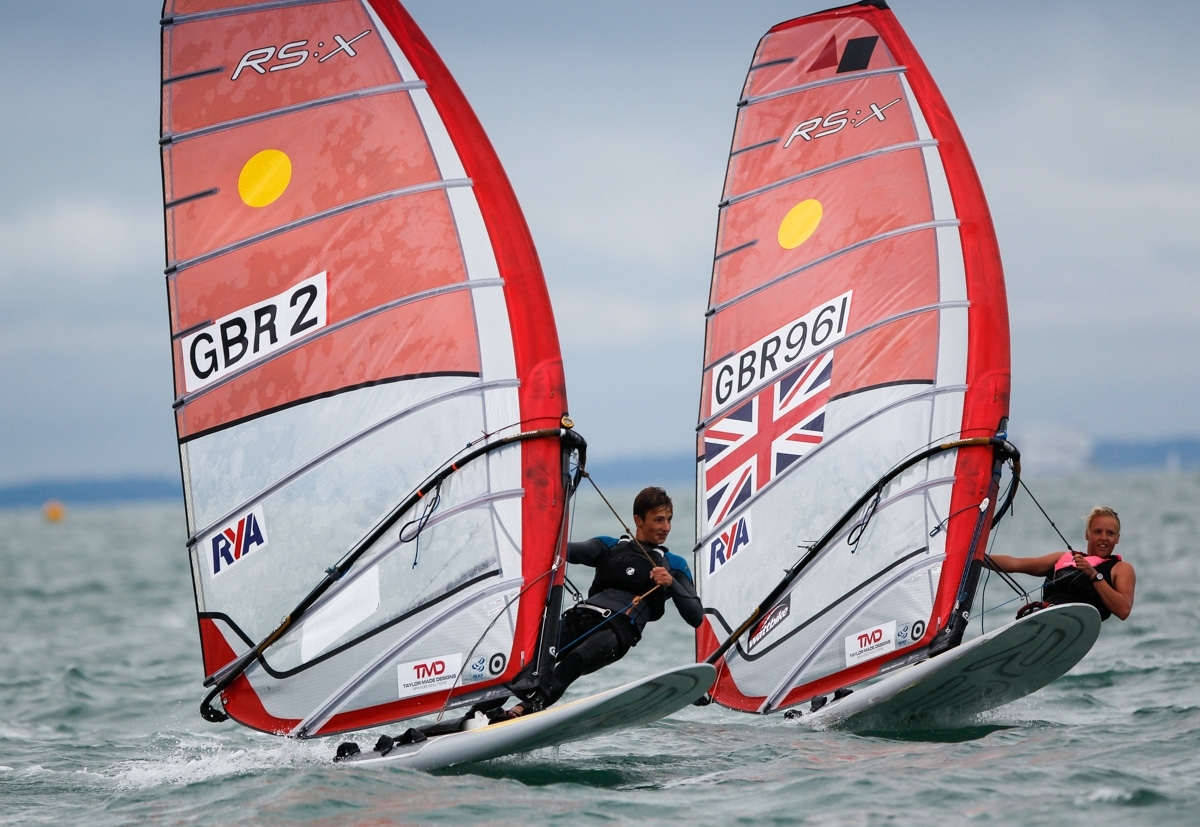 ON THE WATER: Daniel Wilson and Emma Wilson in action (Picture: Paul Wyeth/RYA)