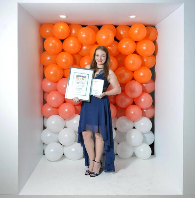 Bournemouth blogger Brogan Tate has won Best Beauty Blog at the Cosmo Blog Awards