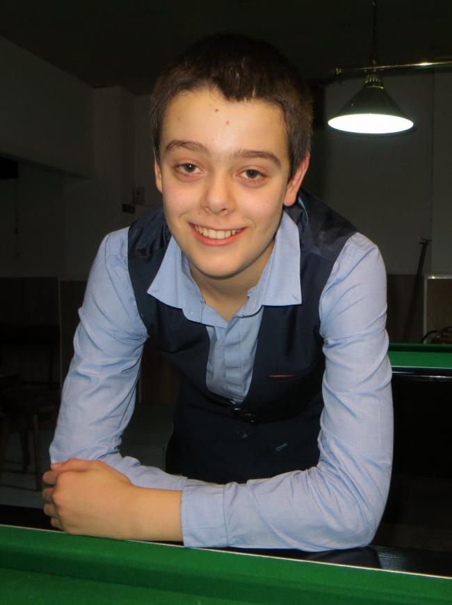 RISING SNOOKER STAR: Bradley Cowdroy