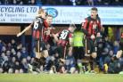 TIMELY INTERVENTION: Cherries celebrate Marc Pugh's late winner