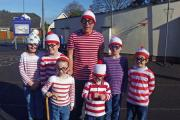 Children at Colehill First School launch a new fundraising appeal for their school library - dressed as famous literary characters.