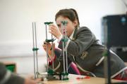 Year 7 pupil, Lauryn Taylor, with a RepRap Pro 3D Printer in Durlston Court Preparatory School's new £250,000 design and technology centre