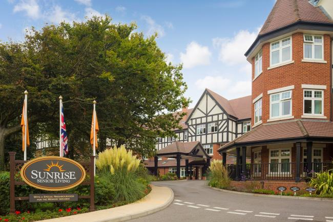 Sunrise Senior Living of Southbourne, on Belle Vue Road, which has been rated as Outstanding by the Care Quality Commission (CQC) following an un-announced inspection