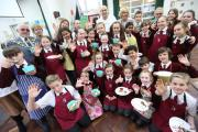 Local chef Ian Hewitt does a healthy eating cookery session with pupils at Priory School in Christchurch..