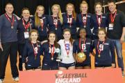 TRIUMPH. The Wessex U18 girls' team - who won the National Volleyball Cup finals.
