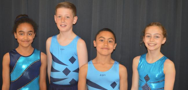 SUCCESS: Avonbourne gymnasts Chloe Sarafopoulos, Ethan Spittles, George Sarafopoulos and Lucy Jordan