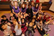 CELEBRATION: St Clements Pre-School celebrates receiving an outstanding rating in its latest Ofsted report