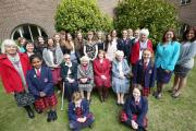 Talbot Heath School celebrates 130 years. Group picture of current staff, old staff, current pupils and ex pupils..