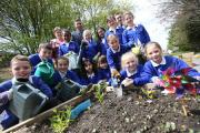 The opening of Heatherlands Primary School's newly refurbished garden..