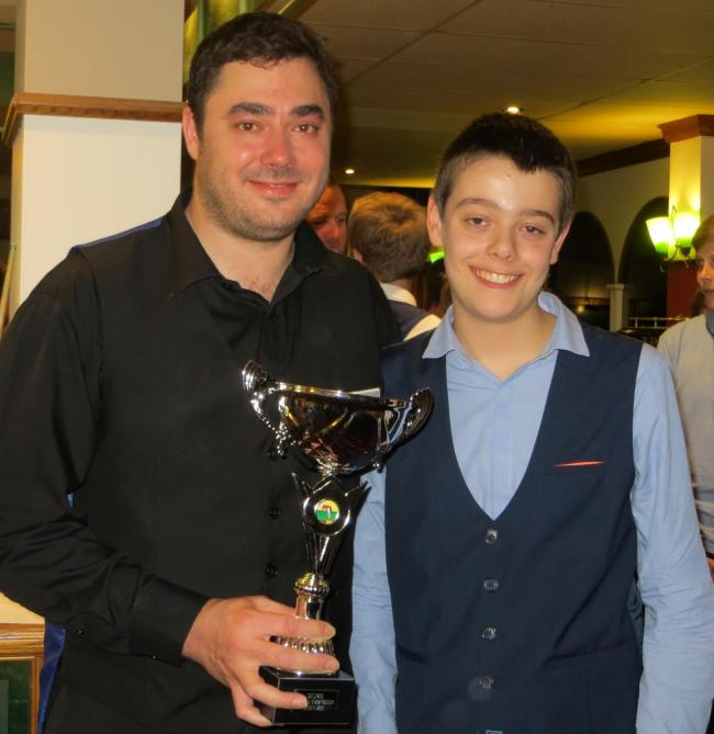 Bournemouth's Bradley Cowdroy (right) and guest professional Kurt Maflin