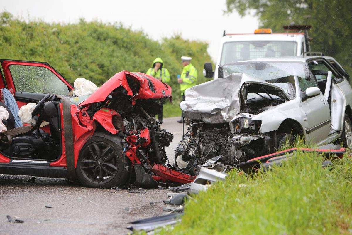 update two people airlifted to hospital after head on car crash