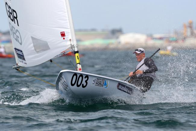 ON THE WATER: Rio-bound Nick Thompson (Picture: Richard Langdon/ Ocean Images)
