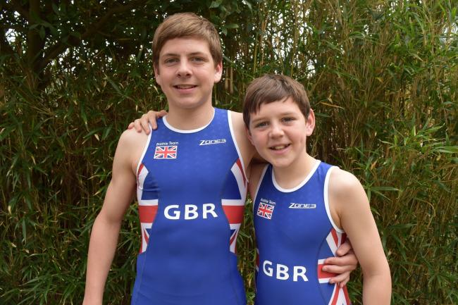 GREAT BRITAIN DUTY: Liam Openshaw, left, and Ryan Openshaw
