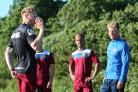 DUAL ROLE: Mark Molesley (left) at pre-season training with Weymouth.