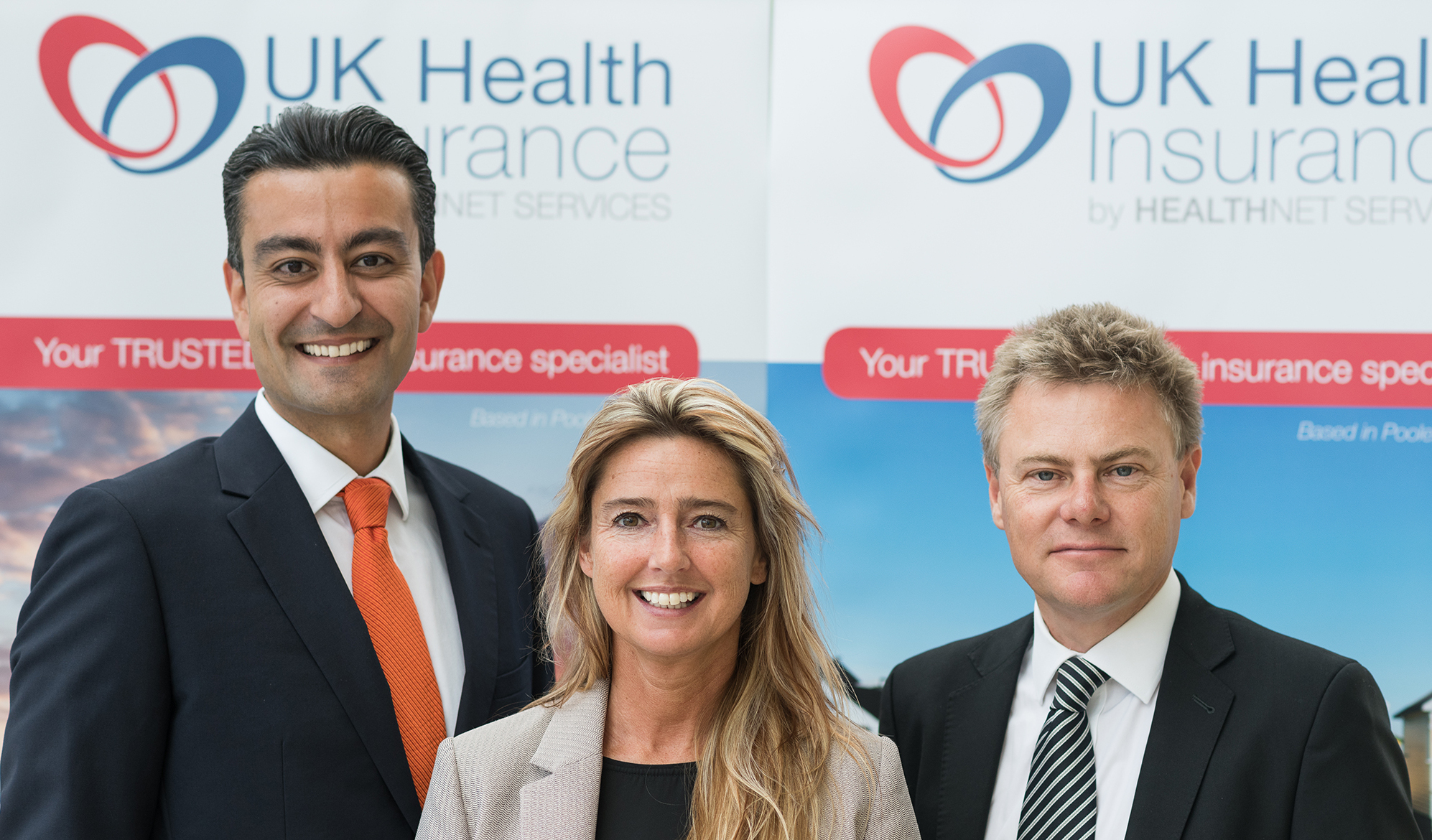 SUPPORT: The sponsors of the UK Health Insurance Invest in Dorset Award. L-r Hooshiar Mires, operations director and Kirstie Pruett, sales and key relationship manager and Adam Sherring, sales director