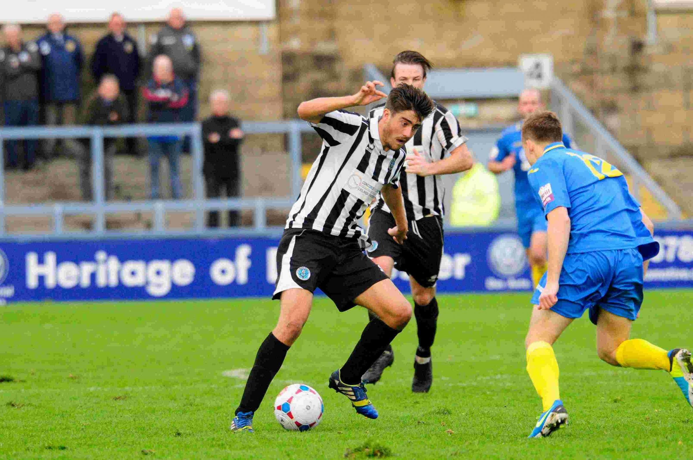 LOAN SPELL: Josh Wakefield in action for Dorchester (Picture: Graham Hunt)
