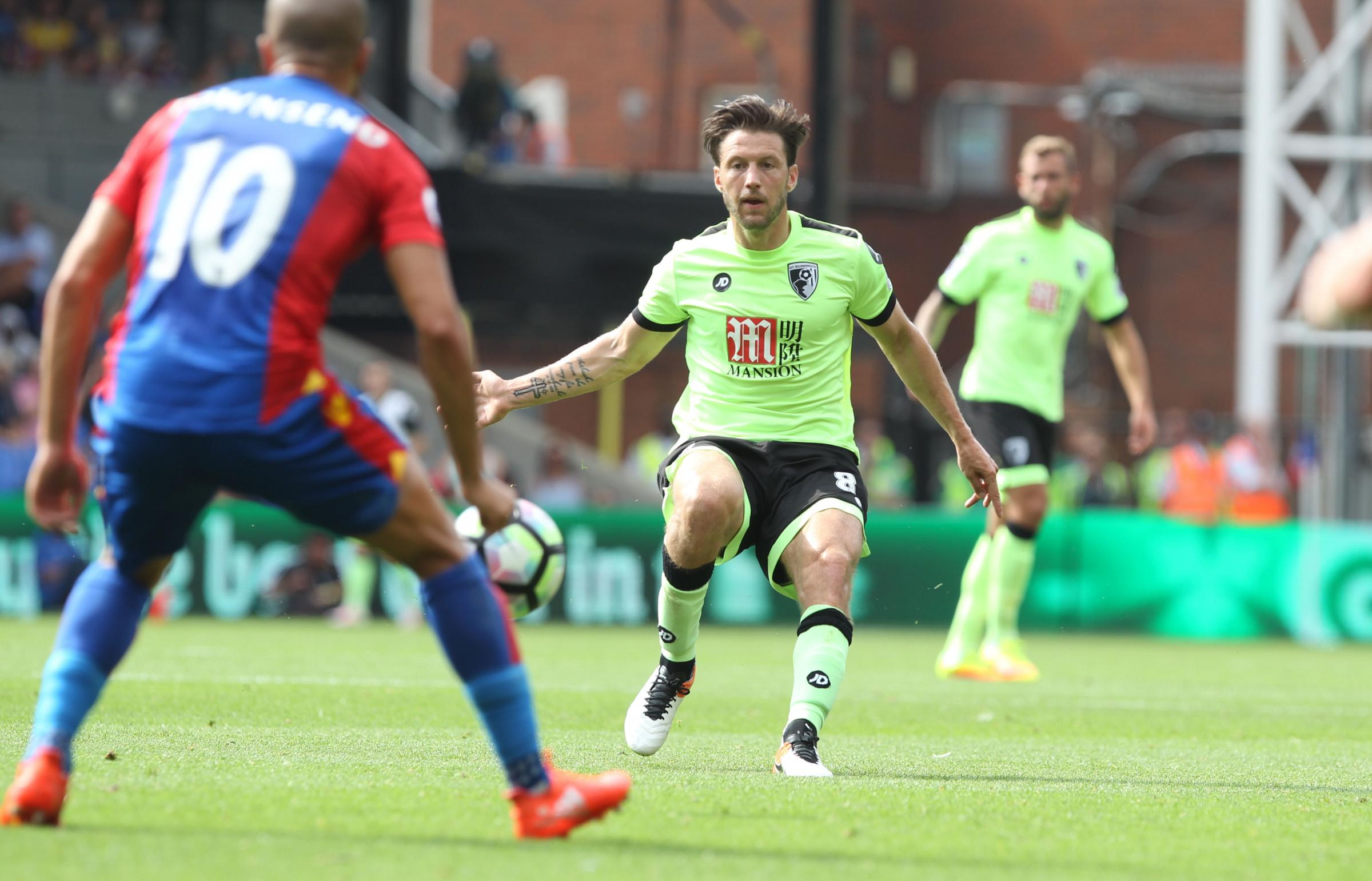 Harry Arter in action against Crystal Palace