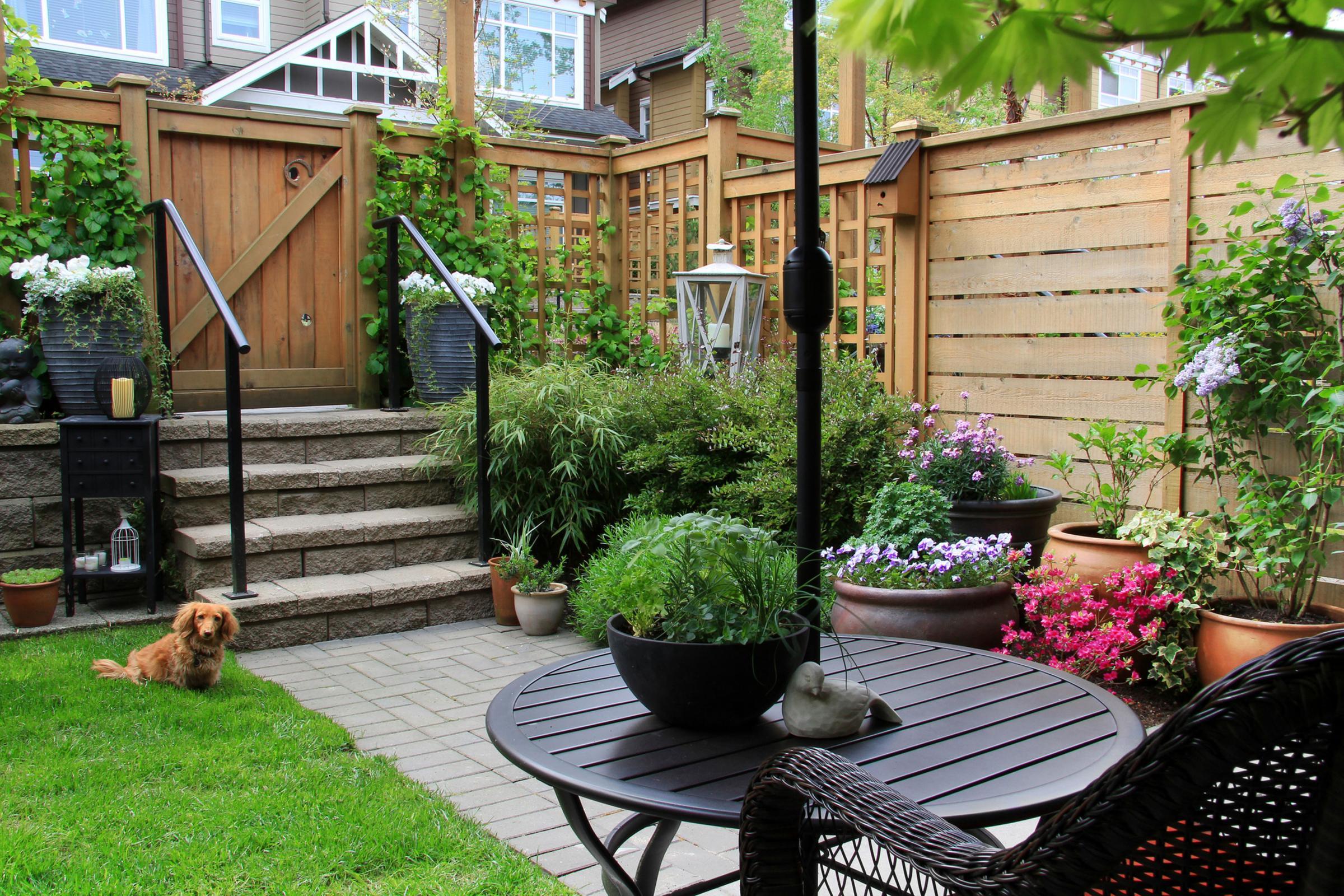 Дизайн при входе во двор